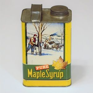 Antique Maple Syrup Can - Vintage Graphic Design